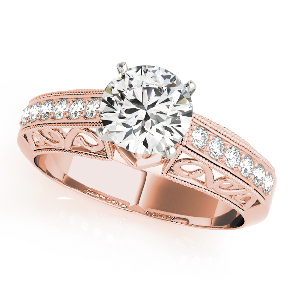 Vintage Filigree Engagement Ring Rose Gold