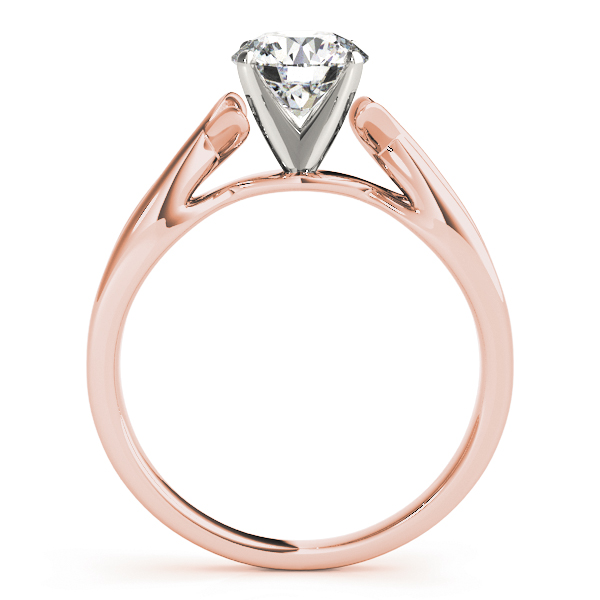 Cathedral Fish Engagement Ring in Rose Gold