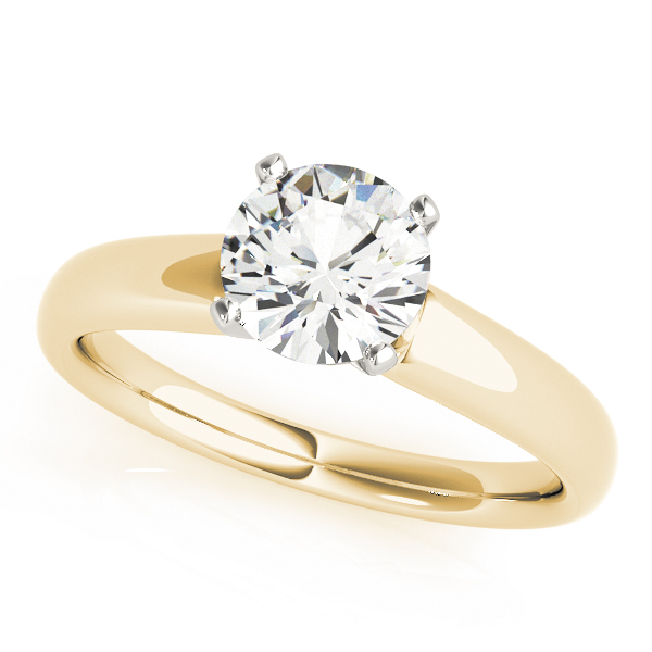 Classic Solitaire Engagement Ring in Yellow Gold