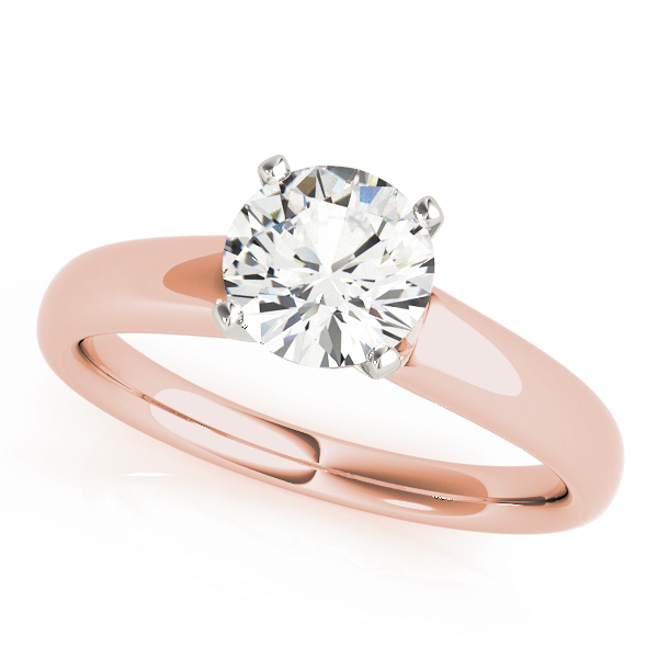 Classic Solitaire Engagement Ring in Rose Gold