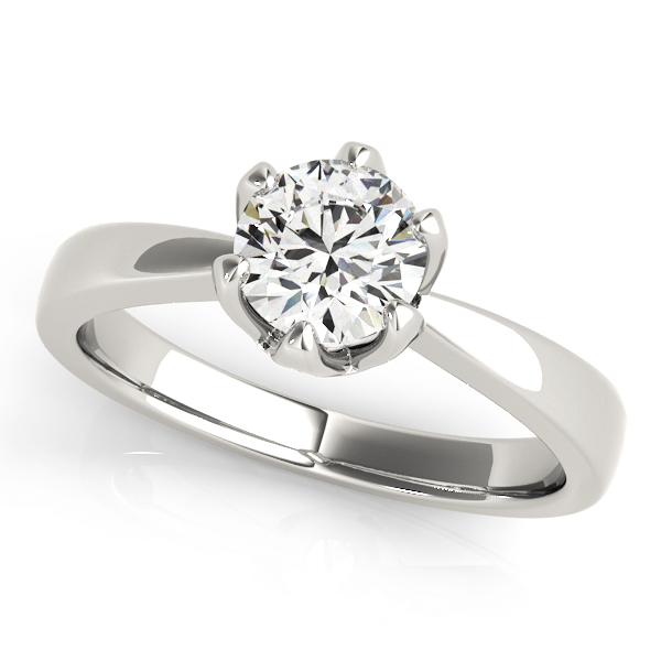 Classic Solitaire Crown Engagement Ring