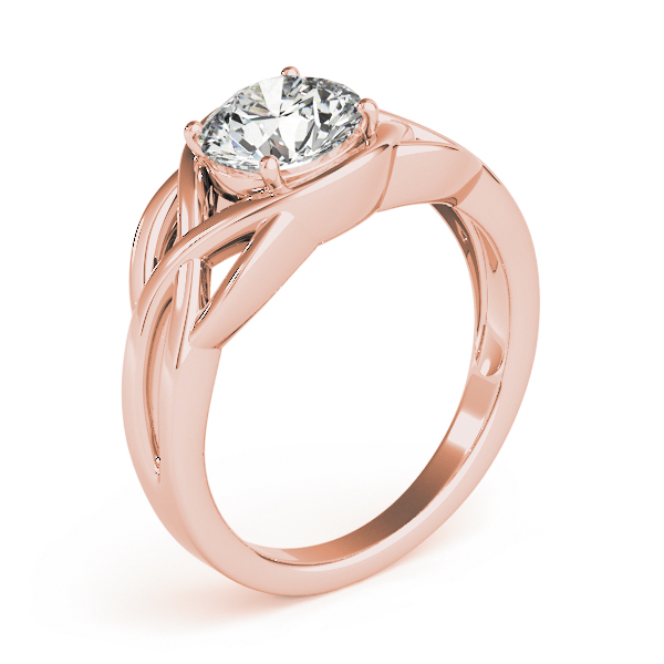 Celtic Knot Engagement Ring Rose Gold