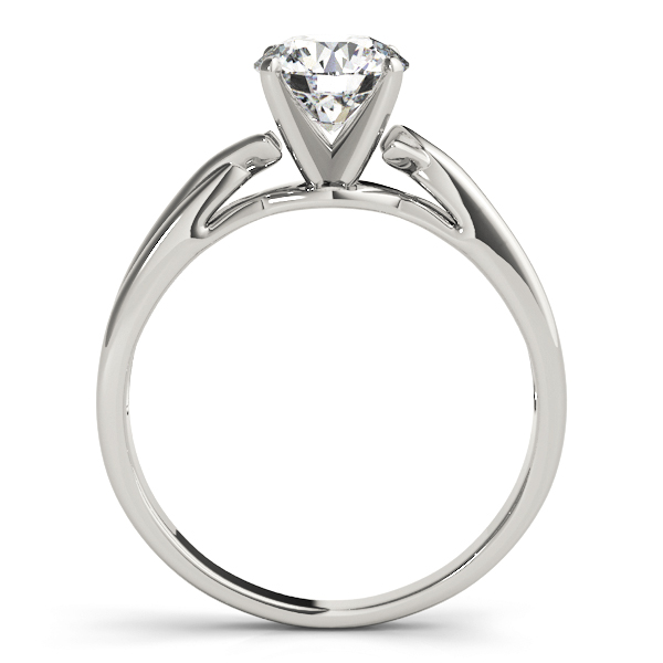 Petite Split Band Solitaire Engagement Ring