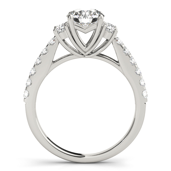 Petite Cathedral Diamond Engagement Ring
