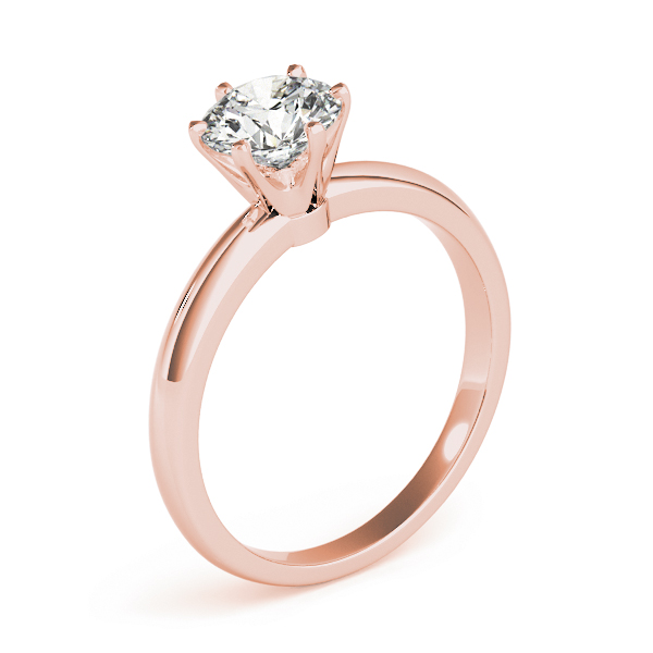 Classic Solitaire Novo Engagement Ring in Rose Gold