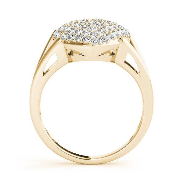 Heart Diamond Cluster Ring Yellow Gold