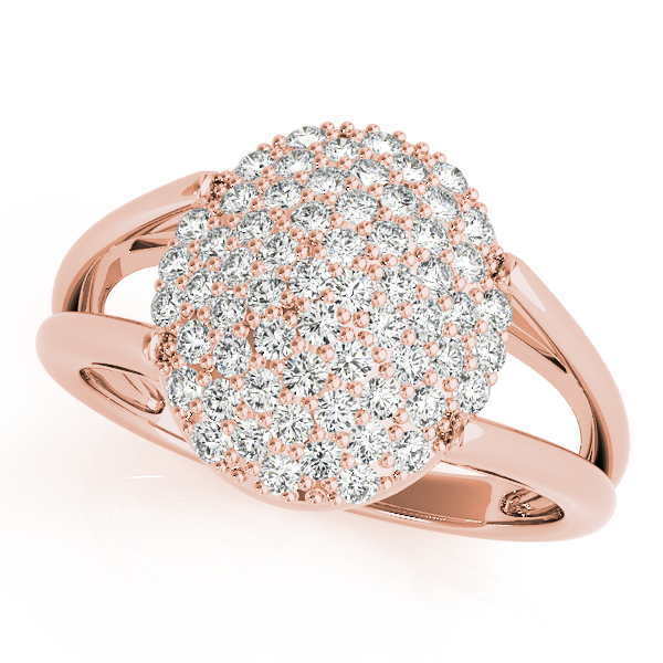 Oval Diamond Cluster Ring Rose Gold