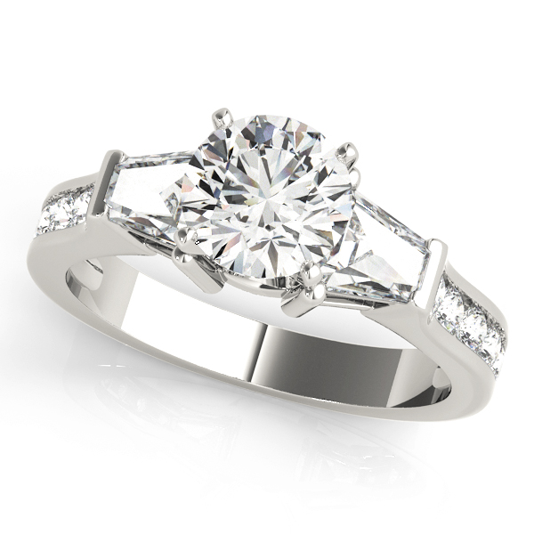 Brilliant Baguette Diamond Engagement Ring