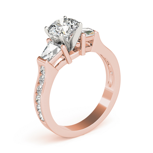 Brilliant Baguette Diamond Ring Rose Gold