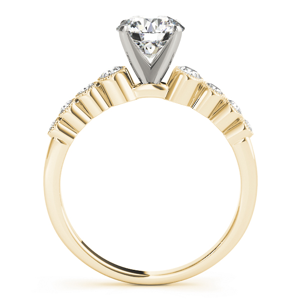 Petite Journey Bezel Diamond Engagement Ring in Yellow Gold
