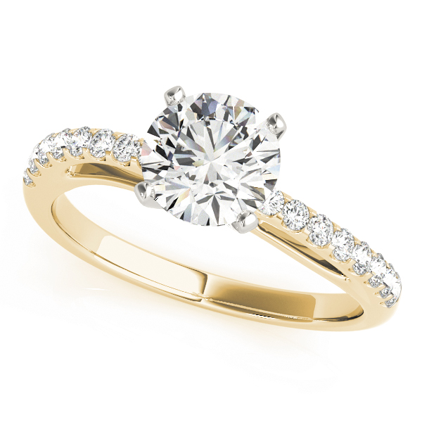 Contoured Journey Diamond Ring Yellow Gold