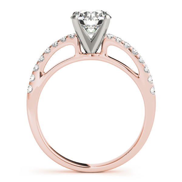 Contoured Journey Diamond Ring Rose Gold