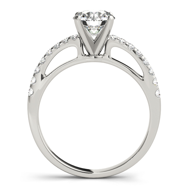 Contoured Journey Diamond Engagement Ring
