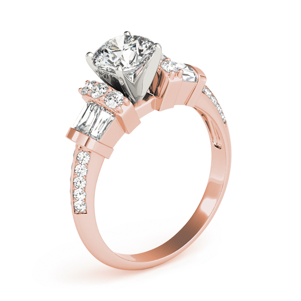 Baguette Diamond Collar Ring Rose Gold