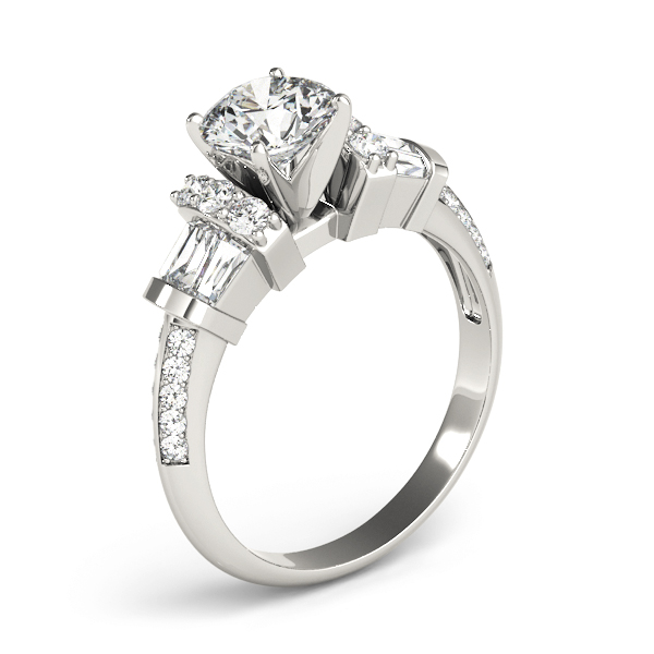 Baguette Diamond Collar Engagement Ring