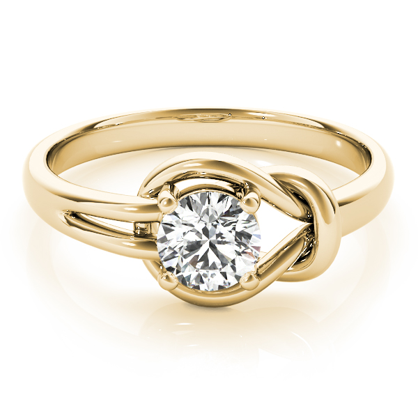 Love Knot Solitaire Ring Yellow Gold