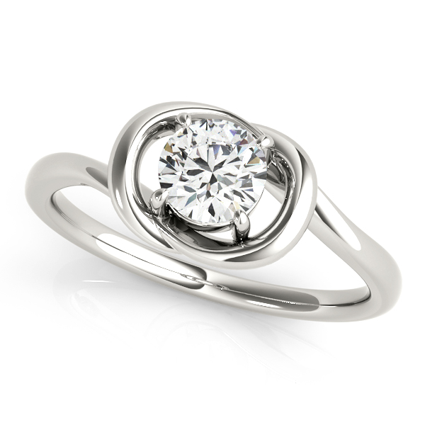 Love Knot Solitaire Promise Ring