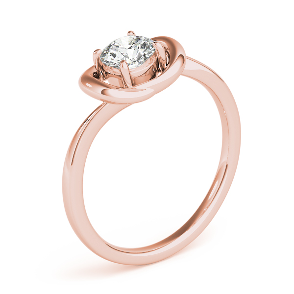 Love Knot Solitaire Ring Rose Gold