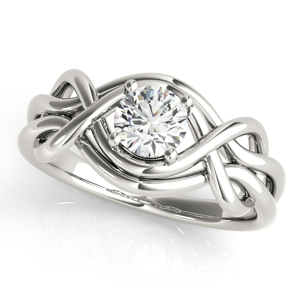 Split Band Love Knot Diamond Ring