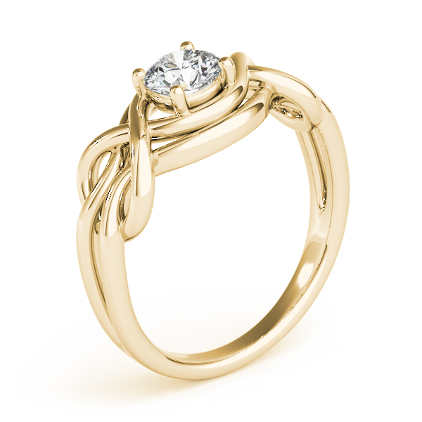 Split Band Love Knot Ring Yellow Gold