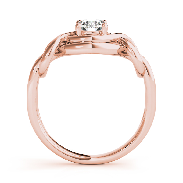 Split Band Love Knot Ring Rose Gold