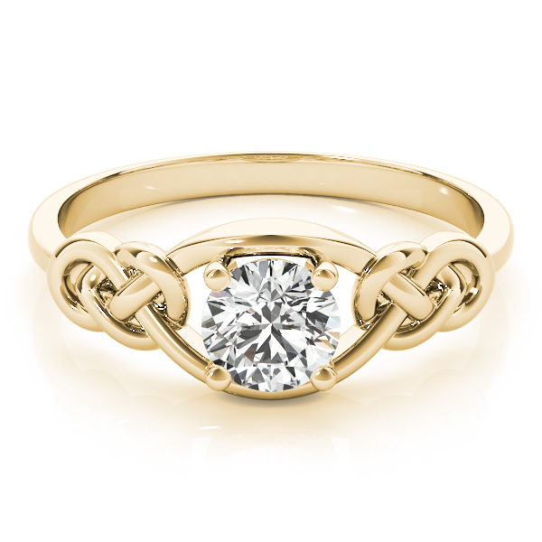 Love Knot Promise Ring Yellow Gold