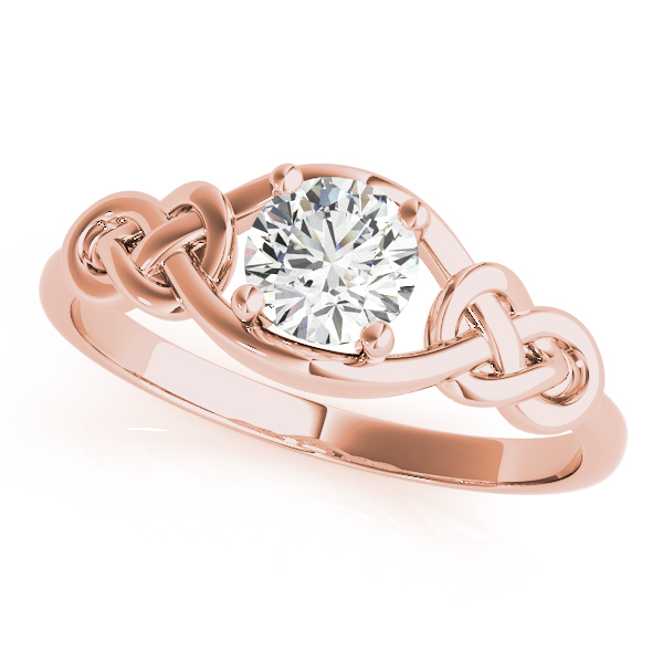 Solitaire Double Love Knot Ring Rose Gold