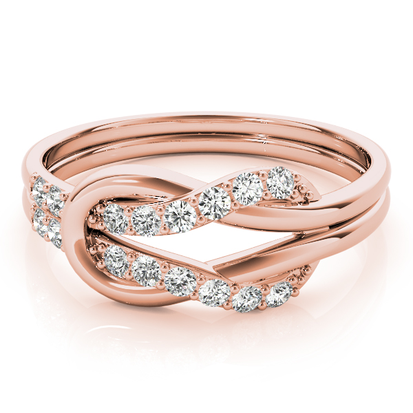 Love Knot Diamond Ring Rose Gold