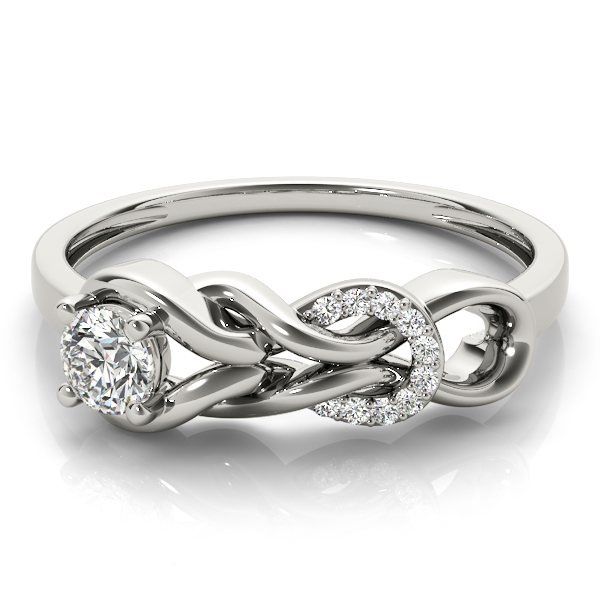 Double Love Knot Round Diamonds