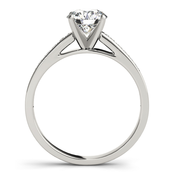 Classic Channel Set Diamond Cathedral Engagement Ring