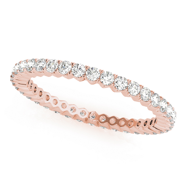 Petite Diamond Eternity Band Rose Gold
