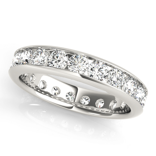 Channel Diamond Eternity Band 3.6 Ct Platinum