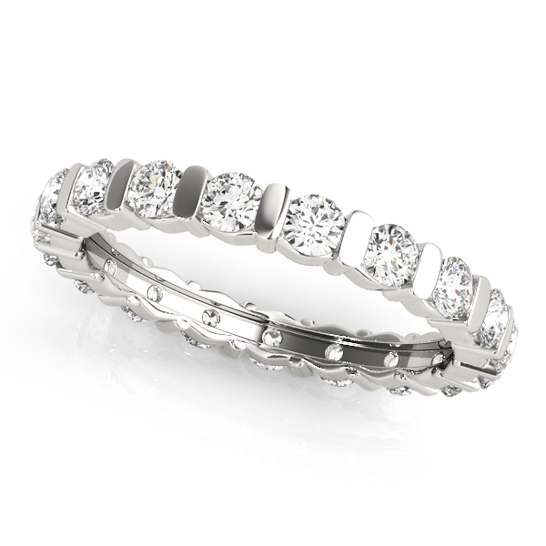Bar Set Round Diamond Eternity Band 1.26 Ct
