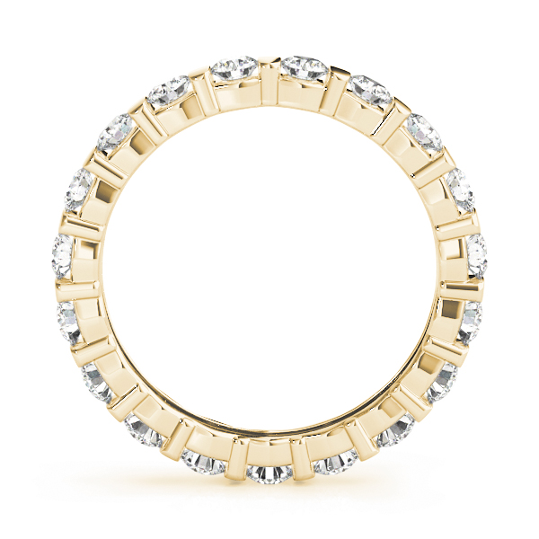 Bar Set Diamond Eternity Band 1.26 Ct Yellow Gold