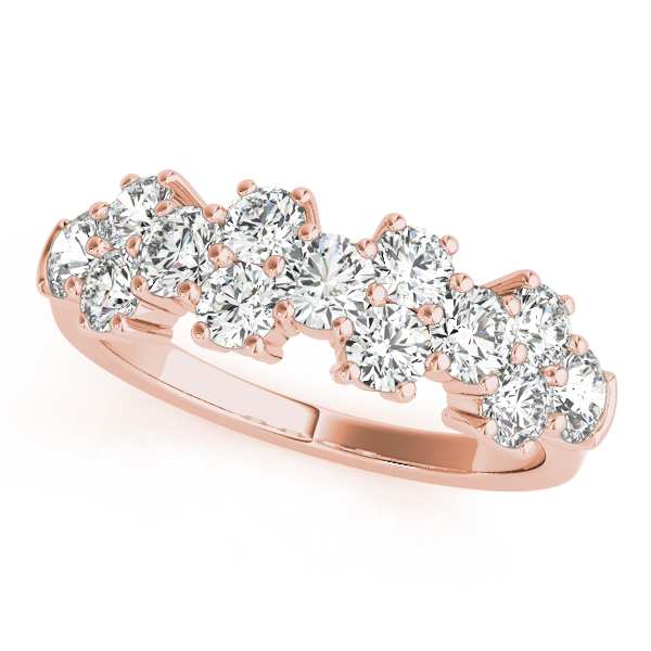 Round Diamond Garland Ring Rose Gold