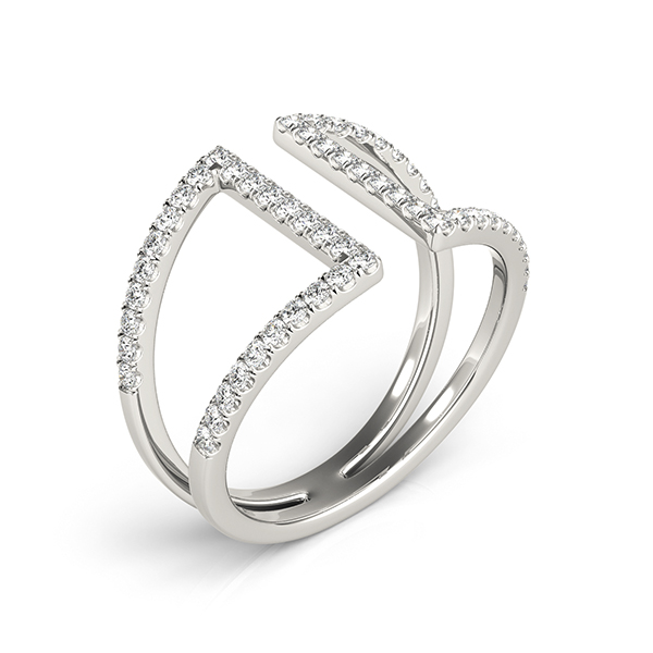 Abstract Tapered Parallel Split Diamond Band
