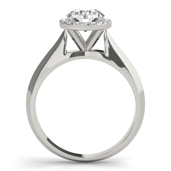 Solitaire Diamond Halo Engagement Ring