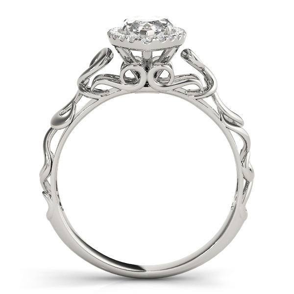 Filigree Halo Marquise Diamond Solitaire Engagement Ring