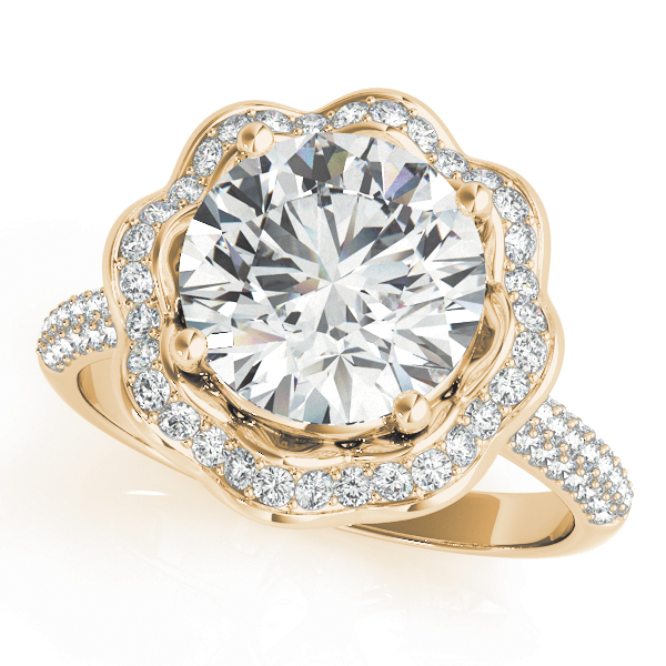 Etoil Royal Halo Engagement Ring Engagement Ring