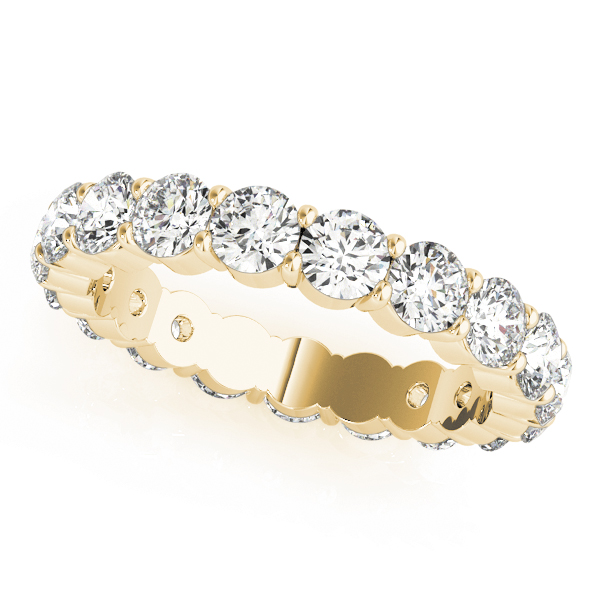 3.4 Carat Yellow Gold Eternity Ring Round Diamonds