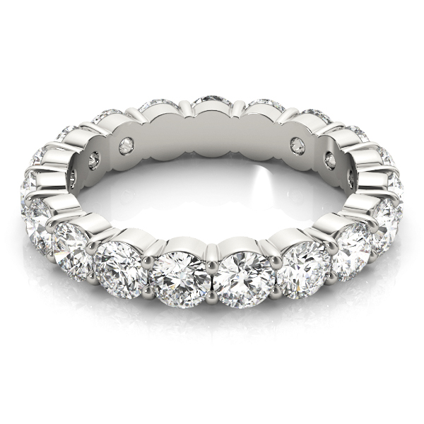 Round Diamond Eternity Band 7 Ct Platinum