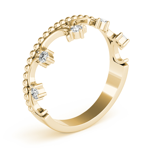 Crown Diamond Ring Yellow Gold