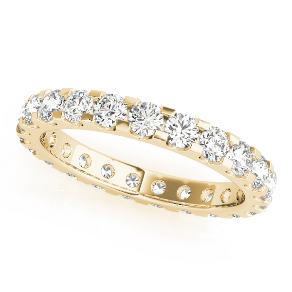 Diamond Eternity Band 0.41 Ct Yellow Gold