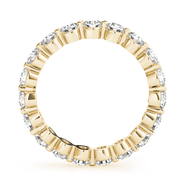 Diamond Eternity Band 1 Ct Yellow Gold