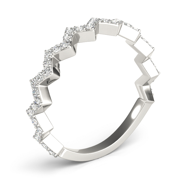 Herringbone Diamond Stackable Ring