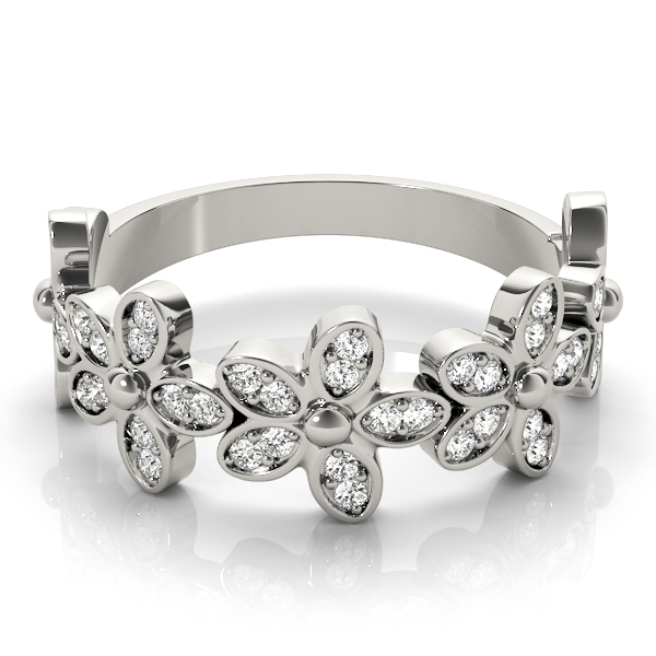 Diamond Flower Stackable Ring