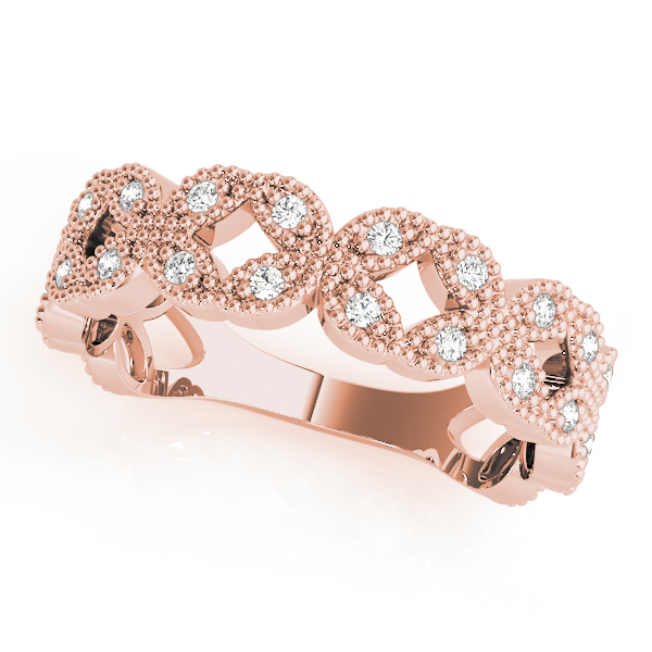 Floral Diamond Rose Gold Stackable Ring