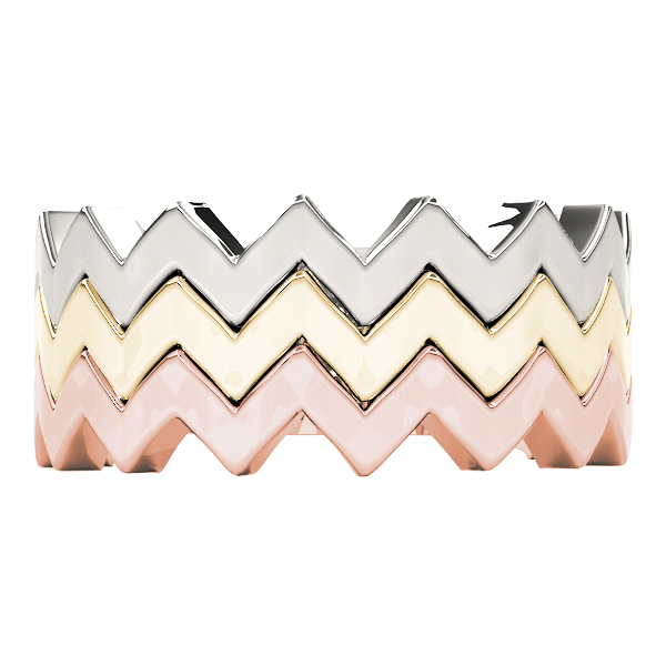 Herringbone Stackable Rings Set