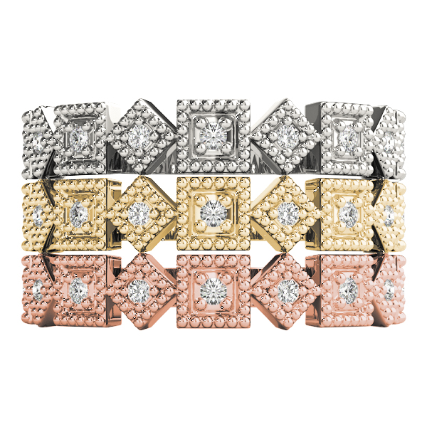 Argyle Diamond Stackable Rings Set
