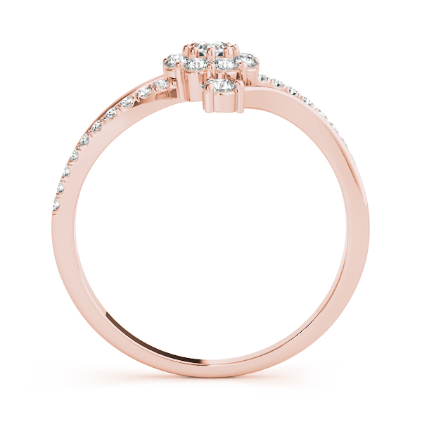 Halo Swirl Compass Ring Rose Gold